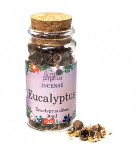 Eukaliptus - kadzidło ziołowe (szklana buteleczka z korkiem) 8g. 30 ml Flora Perpetua