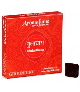 Brykiet zapachowy - 1 czakra Muladhara, 9 sztuk, 40g Aromafume