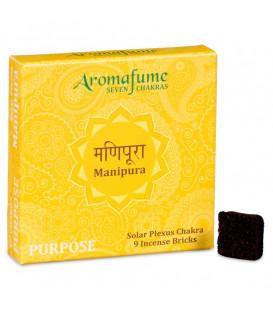 Brykiet zapachowy - 3 czakra Manipura, 9 sztuk, 40g Aromafume
