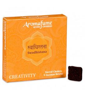 Brykiet zapachowy - 2 czakra Swadhishtana, 9 sztuk, 40g Aromafume