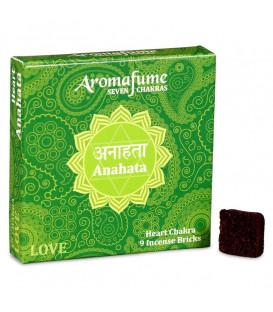 Brykiet zapachowy - 4 czakra Anahata, 9 sztuk, 40g Aromafume