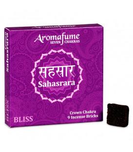 Brykiet zapachowy - 7 czakra Sahasrara, 9 sztuk, 40g Aromafume