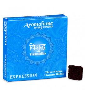 Brykiet zapachowy - 5 czakra Vishudda, 9 sztuk, 40g Aromafume