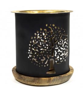 Kominek do aromaterapii olejkowej z motywem Drzewa Życia, wysokosc 9cm, Aromafume