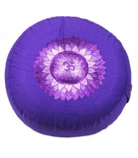 Poduszka do medytacji Czakra Korony, 7 Sahasrara, Kolor Fioletowy, 33x17 cm, Yogi & Yogini