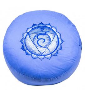 Poduszka do medytacji Czakra Gardła 5 Vishuddha, Kolor Błękitny, 33x17 cm, Yogi & Yogini