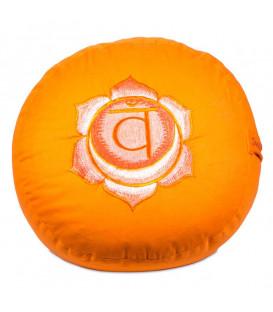 Poduszka do medytacji Czakra sakralna 2 Vishuddha, Kolor Pomarańczowy, 33x17 cm, Yogi & Yogini