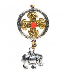 Zawieszka ochronna z symbolem dorje ze słoniem dł. 20cm
