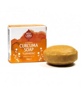 Mydełko Kokosowe Kurkuma z nutą Wetywerii i Geranium 100g Holy Lama Naturals