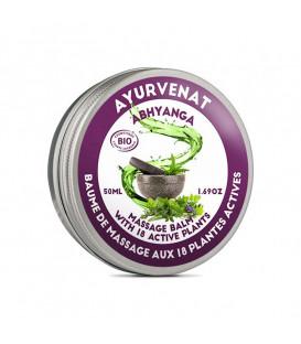 Balsam do masażu BIO Ayurvedic Balm 18 ziół ajurwedyjskich Ayurvenat Abhyanga 50ml (ECOCERT)