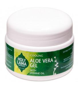 Żel nawilżający Aloe Vera Gel z olejkiem jaśminowym i witaminą E, 250g Holy Lama Naturals