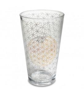 Szklanka dekoracyjna z motywem Kwiatu Życia 480 ml