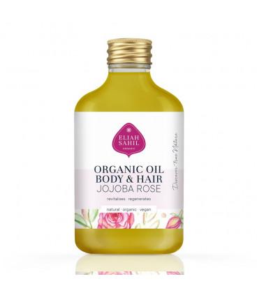 BIO Olejek do ciała i włosów Jojoba & Róża organiczny 100ml Eliah Sahil