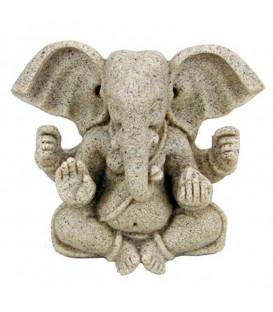 Ganesh - figurka z żywicy w kolorze beżowym 8 cm