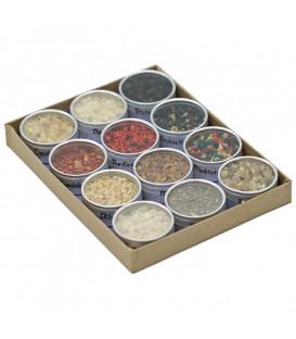 Zestaw 12 różnych żywic kadzidlanych pakowanych po 30 ml