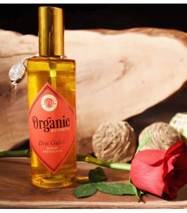 Luksusowy spray zapachowy z olejkiem eterycznym z Sandalwood, 100 ml. Organic Goodness Song of India