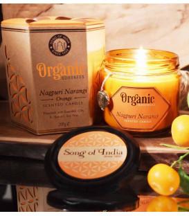 Świeca sojowa z olejkiem eterycznym - Pomarańcza 200 g. Organic Goodness