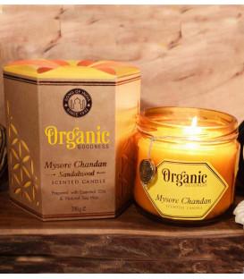 Świeca sojowa z olejkiem eterycznym - Mysore Chandan Sandalwood 200 g. Organic Goodness