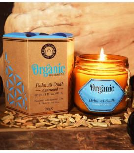 Świeca sojowa z olejkiem eterycznym - Oudh Agarwood 200 g. Organic Goodness