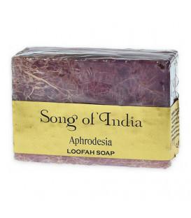 Ręcznie robione mydło glicerynowe z pilingującą Luffa (LOOFAH) - APHRODESIA - 125 g. Song of India