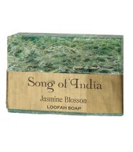 Ręcznie robione mydło glicerynowe z pilingującą Luffa (LOOFAH) - KWIAT JASMINU - 125g. Song of India