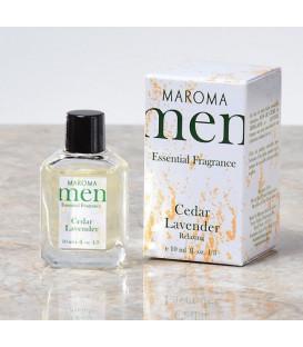 Perfumy dla mężczyzn bez alkoholu z olejkami eterycznymi - Himalajski Cedr & Lawenda - RELAX 10ml Maroma Men