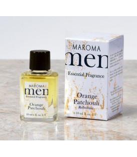 Perfumy dla mężczyzn bez alkoholu z olejkami eterycznymi - Pomarańcza & Patchouli - REFRESHING 10ml Maroma Men