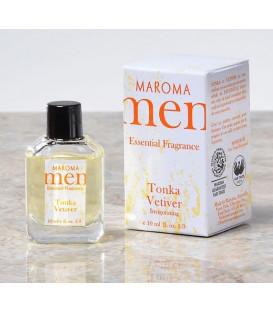 Perfumy dla mężczyzn bez alkoholu z olejkami eterycznymi - ORZEŹWIENIE - Fasolka Tonka & Vetivera - 10ml, Maroma Men