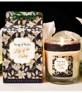 200 g. Little Pleasures Scented Candle in Glass Jar Lily of the Valley