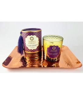Luksusowy Zestaw Harmonia - Lawenda & Trawa Cytrynowa 200 g na miedzianej tacy AYURVEDA DOSHA THERAPY