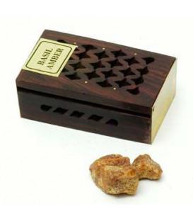 Żywica Zapachowa Bazylia i Ambra w szkatułce z drewna różanego 5g Song of India