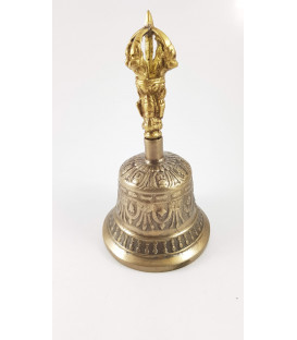 Dzwon i Dorje wykonany z brązu w Nepalu, 9x17 cm