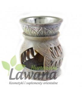 Świecznik/Kominek zapachowy wykonany z naturalnego steatytu - wys 8cm, szer 6cm
