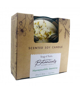 200 g. Botanical Aromatherapy 3 Wick Scented Candle in Honeysuckle Jasmine