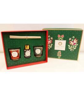 Pudełko prezentowe - 2 świece i dyfuzor zapachowy, Little Pleasures Gift Box