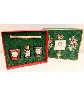 Sea Green Little Pleasures Gift Box with 2pcs of 60 g. 30 ml. Reed Diffuser and Message Card